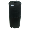 "40 Gallon Tamco® Vertical Black PE Tank with 8"" Lid & 3/4"" Fitting - 19"" Dia. x 41"" High"