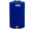 "10 Gallon Tamco® Vertical Blue PE Tank with 5-1/2"" Lid & 3/4"" Fitting - 13"" Dia. x 22"" High"