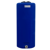 "15 Gallon Tamco® Vertical Blue PE Tank with 5.5"" Lid & 3/4"" Fitting - 13"" Dia. x 31"" High"