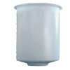 "5 Gallon Domed Bottom Polyethylene Tank - 11"" Dia. x 14"" High"