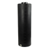 "135 Gallon Tamco® Vertical Black PE Tank with 12-1/2"" Lid & 2"" Fitting - 24"" Dia. x 77"" High"