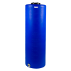 "135 Gallon Tamco® Vertical Blue PE Tank with 12.5"" Lid & 2"" Fitting - 24"" Dia. x 77"" High"