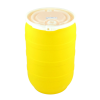 30 Gallon Yellow Open Head Drum with Threaded Bungs