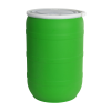 55 Gallon Green Open Head Drum with Threaded Bungs