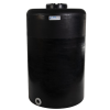 """130 Gallon Tamco® Vertical Black PE Tank with 12-1/2"""" Lid & 2"""" Fitting - 30"""" Dia. x 49"""" High"""