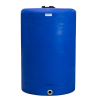 "300 Gallon Tamco® Vertical Blue PE Tank with 8"" Lid & 2"" Fitting - 40"" Dia. X 61"" High"