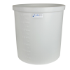 "27 Gallon Natural Short Polyethylene Tank - 22"" Dia. x 18"" High"