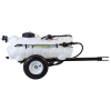 15 Gallon Trailer Sprayer with Boomless Wand, 2 Nozzle Boom & 2.2 GPM Pump