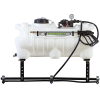 25 Gallon ATV Sprayer with Wand, Boom with 3 Nozzles & 2.2 GPM Pump