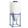 "100 Gallon Heavy Duty Tamco® Cone Bottom Tank with 2"" FPT Bulkhead Fitting - 30"" Dia. x 56"" Hgt."