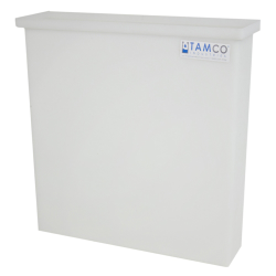 "6 Gallon Natural Polyethylene Tamco® Tank - 18"" L x 4"" W x 18"" Hgt. (Cover Sold Separately)"