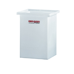 "2 Gallon Molded Polyethylene Tank with Cover- 8"" L x 8"" W x 8"" Hgt."
