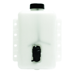 "4 Quart HDPE Windshield Washer Tank assembly with 12 Volt Pump - 8.63"" L x 4.15"" W x 9.84"" Hgt."