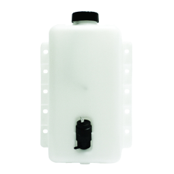 "5 Quart HDPE Windshield Washer Tank assembly with 12 Volt Pump - 8.62"" L x 4.17"" W x 12.9"" Hgt."