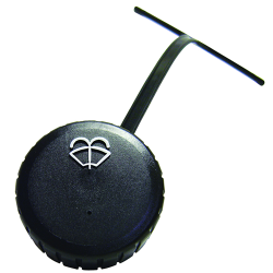 "2-1/4"" Vented Polyethylene Washer Cap with Tether & Washer Symbol"