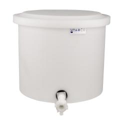 "10-12 Gallon Natural Polyethylene Shallow Tank with Cover & Spigot - 14"" High"