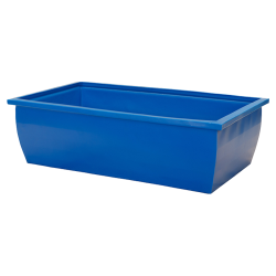 350 Gallon Blue Rectangular Open Top Tank