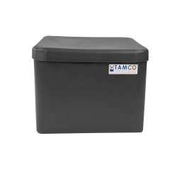 "4 Gallon Slate Gray Standard Square Tank with Cover -  11-1/2"" L  x 11-1/2"" W x 8-5/16"" H"