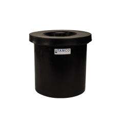 "3 Gallon Black Crock - 11"" Dia. x 11"" High"