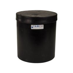 """3-1/2 Gallon Black Plating Tank 10"""" Dia. x 11"""" High"""