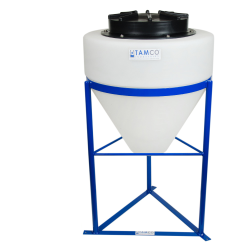 "10 Gallon Tamco® Cone Bottom Tank with 3/4"" FPT Bulkhead Fitting - 18"" Dia. x 19"" Hgt."