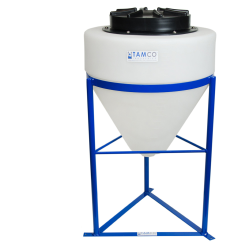 "10 Gallon Tamco® Cone Bottom Tank with 1-1/2"" FPT Boss Fitting (Full Drain) - 18"" Dia. x 19"" Hgt."