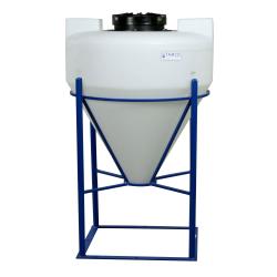 "45 Gallon Tamco® Cone Bottom Tank with Mixer Mounts & 2"" FPT Bulkhead Fitting - 30"" Dia. x 34"" Hgt."