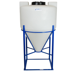 "65 Gallon Cone Bottom Tank with Mixer Mounts & 2"" FPT Bulkhead Fitting - 30"" Diameter x 41"" High"
