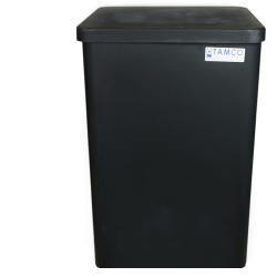 "37 Gallon Black Standard Square Tank with Cover - 18"" L x 18"" W x 27"" H"