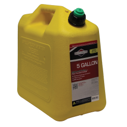 5 Gallon Standard Yellow Polyethylene Diesel Fuel Can