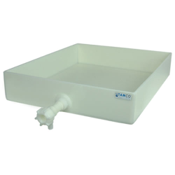 "10"" L x 10"" W x 3"" H Polypropylene Tray with Spigot"