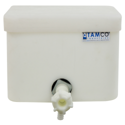 "4 Gallon Natural Heavy Duty Square Tank with Cover & Spigot - 11-1/2"" L x 11-1/2"" W x 8-5/16"" H"