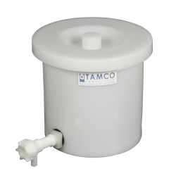 "3 Gallon Tamco® Crock with a 3/4"" Polypropylene Flow Spigot"