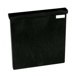 "3 Gallon Black Polyethylene Tank - 18"" L x 2"" W x 18"" Hgt. (Cover Sold Separately)"
