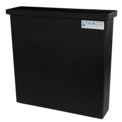 "6 Gallon Black Polyethylene Tank - 18"" L x 4"" W x 18"" Hgt. (Cover Sold Separately)"