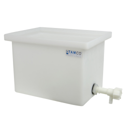 "34 Gallon Polyethylene Tank with Spigot - 18"" L x 18"" W x 24"" H"