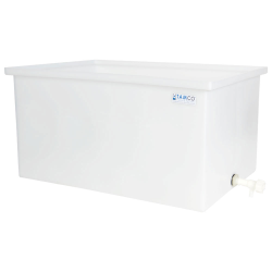 "67 Gallon Polyethylene Tank with Spigot - 36"" L x 24"" W x 18"" H"