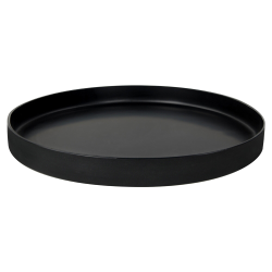"15-1/2"" Diameter Black Tamco® Round Tray"