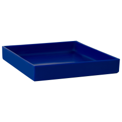 "10-3/8"" L x 10-3/8"" W x 1-1/2"" H Blue Tamco® Tray"