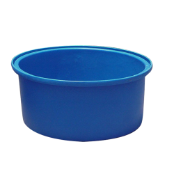 100 Gallon Blue Low Profile Round Open Top Tank