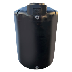 "45 Gallon Black Water Tank - 18"" Dia x 51"" H"