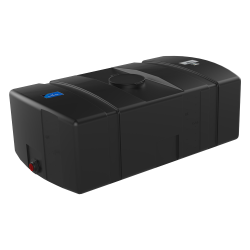 300 Gallon Black Low Profile Rectangular Tank