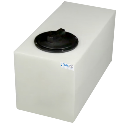 "6 Gallon Natural Molded Polyethylene Tamco® Tank with Lid - 19"" L x 9.5"" W x 11"" Hgt."