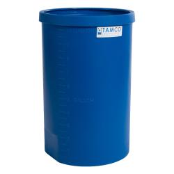 """10 Gallon Blue Heavy Wall Open Top Tamco® Tank - 12-7/8"""" Dia. X 21"""" High"""