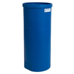 """15 Gallon Blue Heavy Wall Open Top Tamco® Tank - 12-7/8"""" Dia. X 30"""" High"""