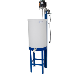 "55 Gallon Tamco® Tank with 1"" PVC Ball Valve, Stand & Mixer"