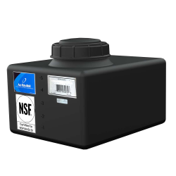 """6 Gallon Black Heavy Duty Specialty Tank with 5"""" Lid, 3/4"""" Fitting 15""""L x 12""""W x 8""""H"""