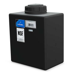 """7 Gallon Black Heavy Duty Specialty Tank with a 5"""" Lid, 3/4"""" Fitting  14""""L x 9""""W x 15""""H"""