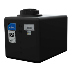 """16 Gallon Black Heavy Duty Specialty Tank with 5"""" Lid, 3/4"""" Fitting 21""""L x 14""""W x 14""""H"""