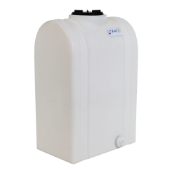 """25 Gallon Natural Tamco® Loaf Tank with 5"""" Lid & 3/4"""" Side Fitting - 19-3/8"""" L x 12-3/8"""" W x 31"""" Hgt."""